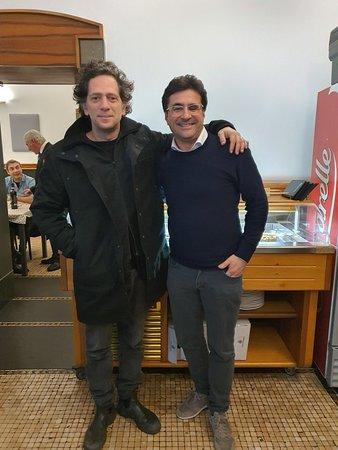 Con Lorenzo Lavia