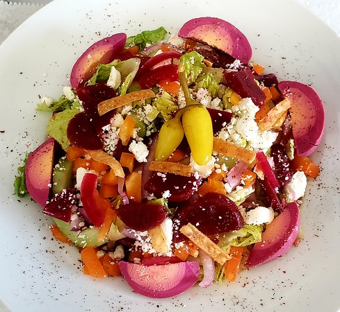 Our Pickled Beet and Feta Salad.