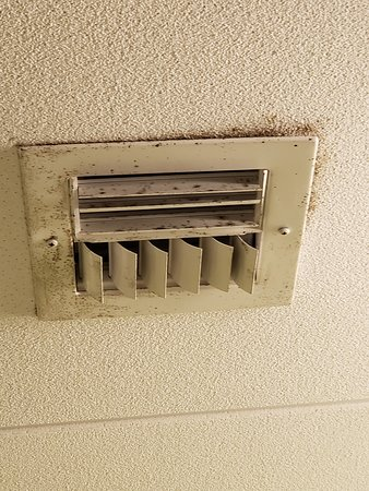 """Bathroom vent, if the fan is turned on things sort of """"fly off the fixture"""" into the room."""
