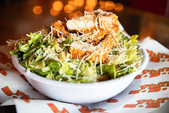 Rancho Bernardo, Kalifornie: Caesar Salad with seasoned & bbq'd char-grilled chicken