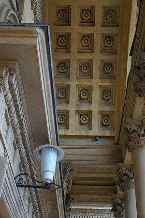 Кессонный потолок портика входа ДК ЧМК