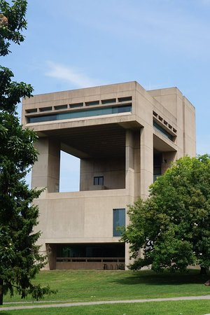 The I.M. Pei designed building.  It creates a terrace and views and just looks cool.