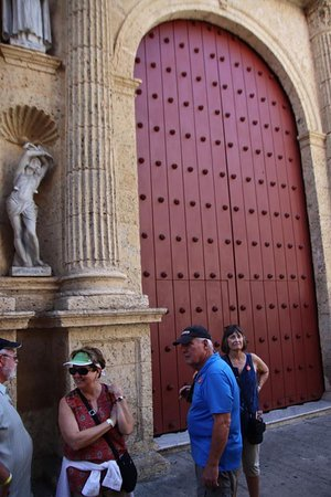 Huge wooden entry doors