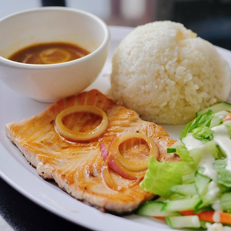 TuRe Cafe: Soy butter Salmon Steak
