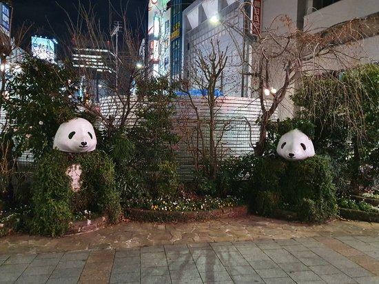 Green Panda Statue