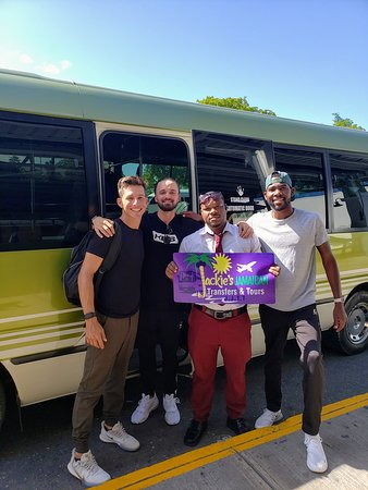 Proud to have transported Brandon Robinson Thompson, professional golfer, and his team to the Jamaican Open held at the Tryall Golf Club  in December of 2019. Sorry his clubs didn't make the flight with him though ☹.