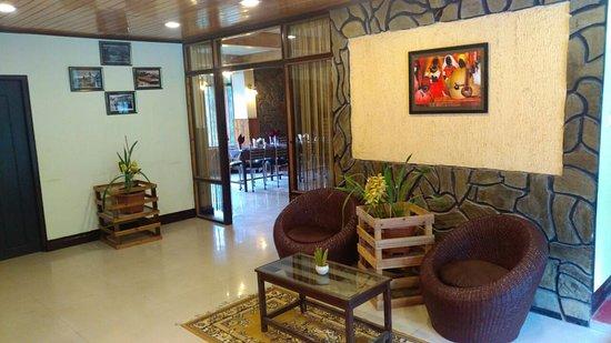 Reception Area of Mystic Rodhi Resort at Darjeeling