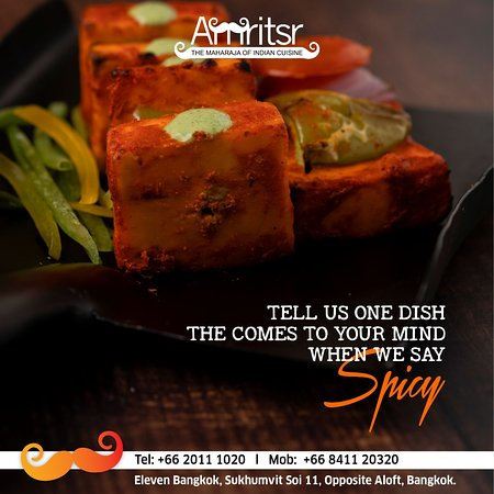 #QuizAlert!  Tell us that one #Dish which comes to your mind when we say #SPICY and makes you cry.   😝😋 Tell us in the #Comments below  Address - 26/13, Eleven Bangkok, Sukhumvit Soi 11, Next to Holiday Inn Express, Khlong Toei, Bangkok  Call for Bookings or Doorstep Delivery @ +66841120320   +6620111020  #Amritsr #ElevenBangkok #ElevenBkk #AboveElevenBangkok #SukhumvitSoi11 #Soi11 #FunTime #QuizTime #Quiz #FoodQuiz #WeekendFun #WeekendVibes #FoodFun #BangkokFoodies #BangkokFoodie #Bangkok