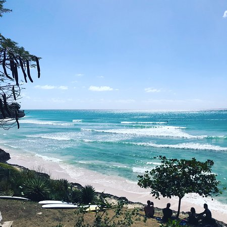 Freight's Bay Barbados, RTT surf school's home break. This is where you will most likely surfing in your surfing lessons.