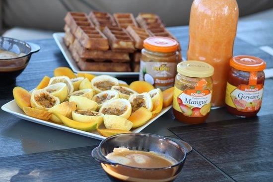Le petit déjeuner est servi ! Et est différent tous les matins. Miam