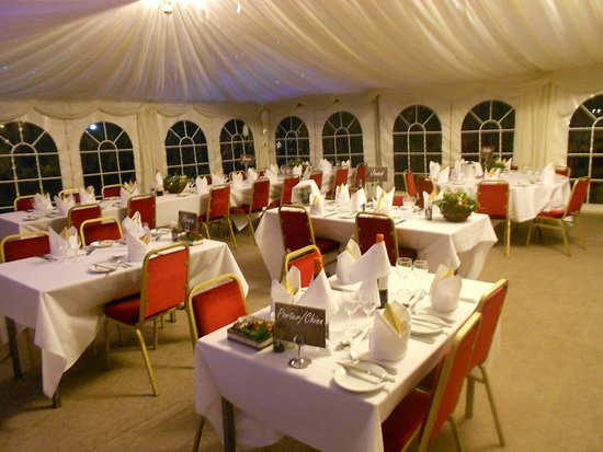 The Marquee Set Up For New Years Eve Black Tie Gala Dinner