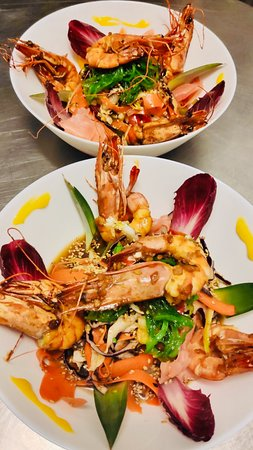 Gambas marinées et acidulées sur coleslaw asiatique : à la carte tous les soirs à l'Etoile