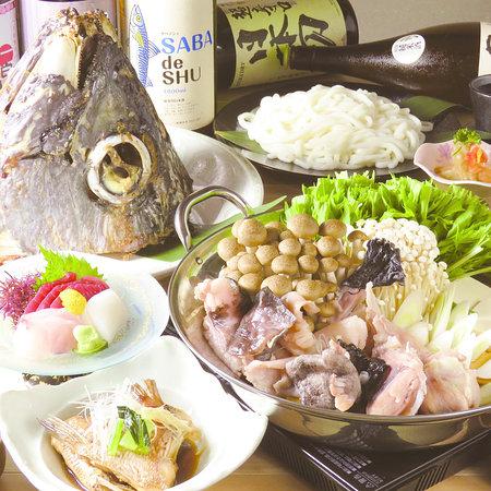 冬の選べる鍋コース ・あんこうすき煮鍋   2時間飲み放題付 5,000円(税別)