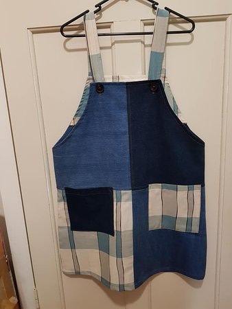 Patchwork pinafore