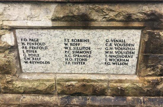 9.  Goudhurst War Memorial, Goudhurst, Kent