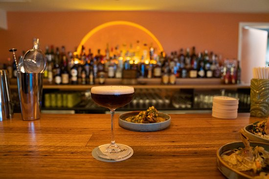 The bar, serving world class drinks and tacos