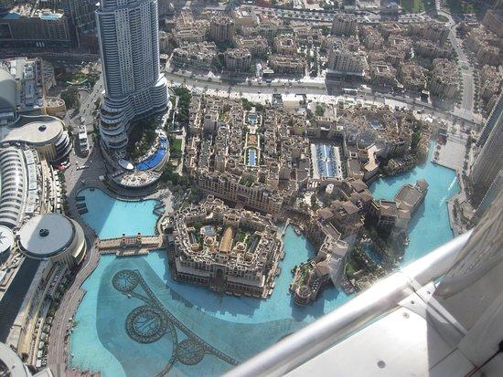 """På toppen, Burj Khalifa - etage 125 og 124 """"Generel adgang"""": Dubai Fountain"""