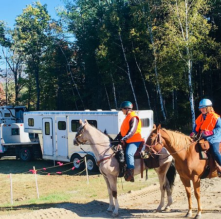 Andover, Мэн: Camp with your horse. Access to horse trails from Lone Mountain Campground