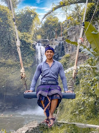 This is Ketut Mano your Guide and Driver at Blangsinga Waterfall