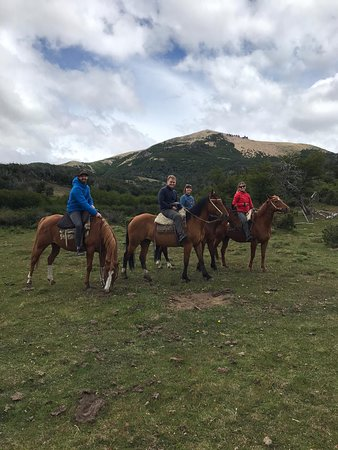 horse-riding. Elio took the picture