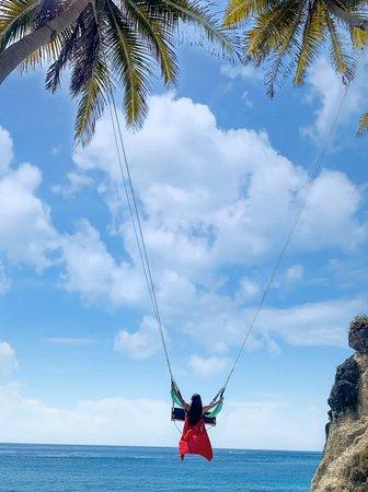 Swing at Diamond Beach, Nusa Penida Island