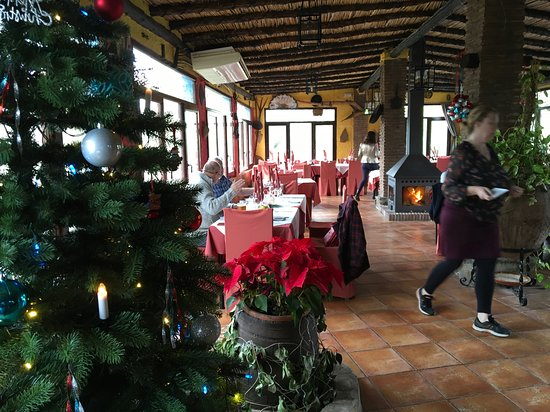 Riogordo, España: Lovely warm atmosphere, lovely log fire too, we were first to arrive, but soon filled up.