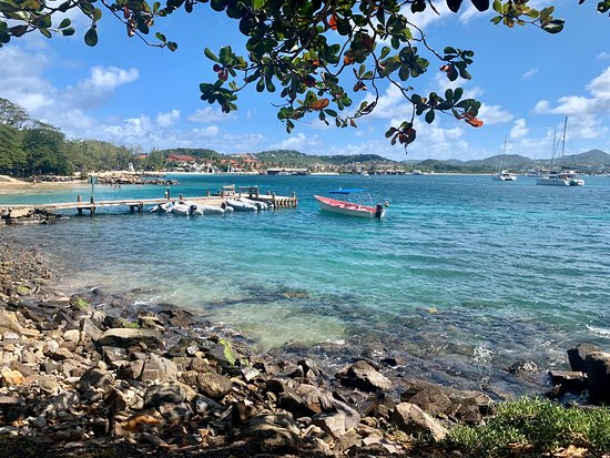 Gros Islet Quarter, St. Lucia: Beautiful sea views from the restaurant