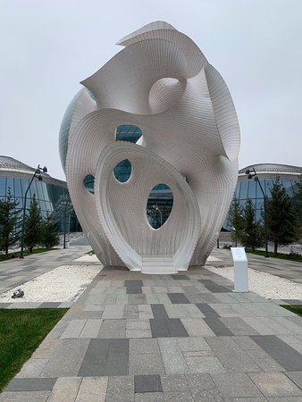 Modern sculpture at the territory outside