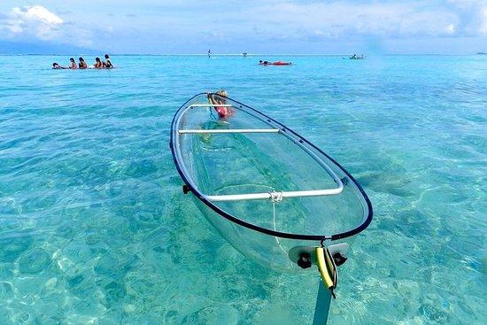 Clear kayak tour