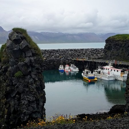 Arnarstapi, Iceland: A serene scene.