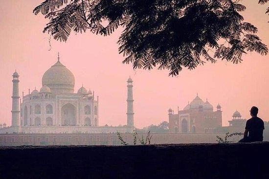 日出时的阿格拉全日泰姬陵与德里的阿格拉堡和伊蒂玛德-达拉赫
