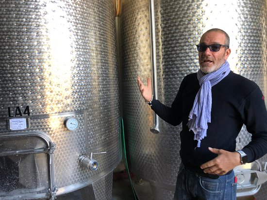 Pietraia, Italy: Deni Zeni educating us about the process of making great wine.