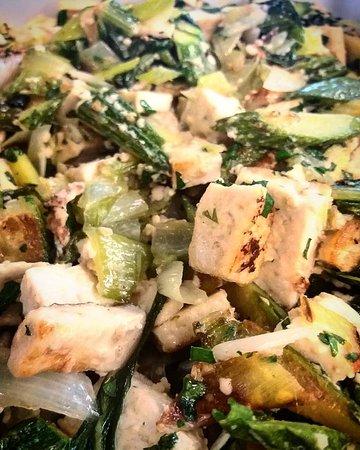 Tofu marinato trifolato