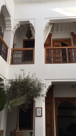 View up from courtyard.