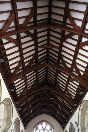Gwennap, UK: Wonderful old church ceiling