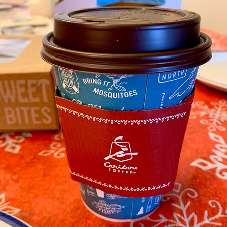 A quick stop at Caribou in Hugo's on 32nd Avenue South...