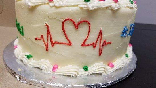 The Kakery: Hashtag Cake EKG