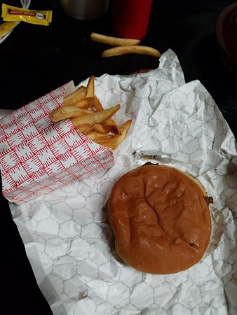 Wood River, IL: Steakburger and fries