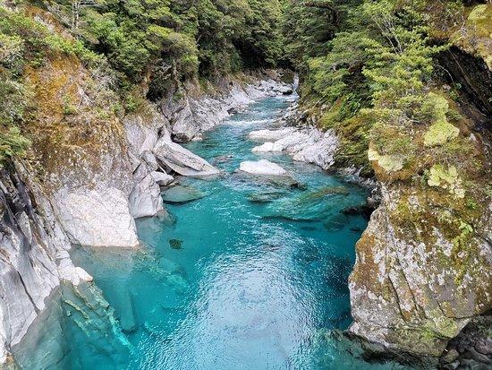 Nový Zéland: Blue lake