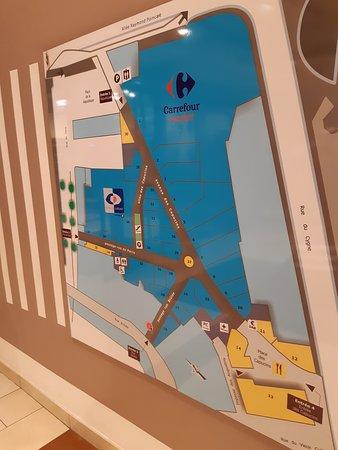 Plan de la galerie marchande