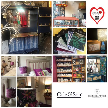 Whitstable, UK: official stockist Frenchic Paints, Cole & Son and Borastapeter Wallpapers