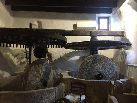 Stone olive mill wheels