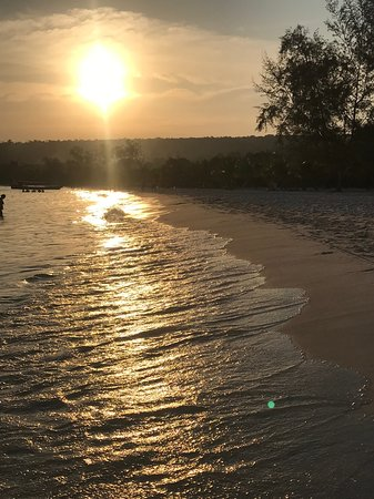 Koh Rong Пляж Long Set закат