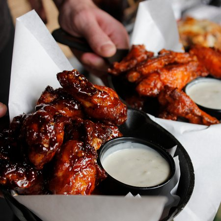 Southern Comfort Glazed Chicken Wings & TNT Hot Wings
