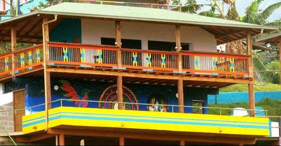 Tamesis, Kolumbien: Restaurante Balcon de los colores desde Jaibana Spa