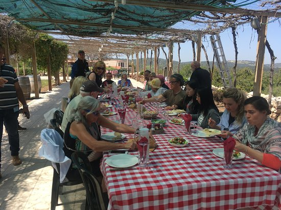 Givat Yeshayahu, Israel: At lunch