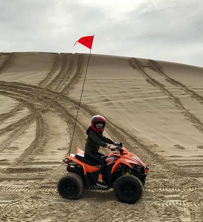 Lakeside, Oregón: First time on the dunes!