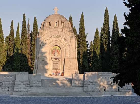 Ampelokipoi, Greece: Serbian chapel at Zeitenlik WWI Cemetery