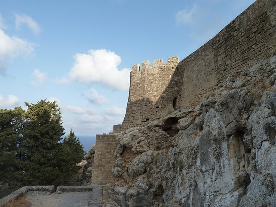view of the fortress walls from the outside