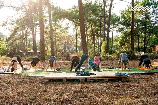 Montalivet, France: In unserem morgendlichen Yoga-Kurs bekommst du Unterstützung dabei, deine Kräfte zu bündeln, und bereitest dich mit Sonnengruß und Kobra auf einen aktiven Tag vor.